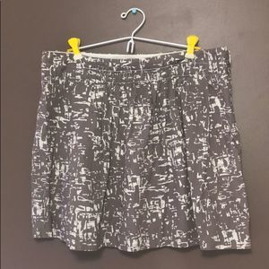 J.Crew Pleated Mini Skirt brown and white size 14